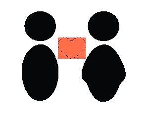 friends and family logo blaa hjerte